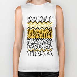 wild stripes pattern Biker Tank