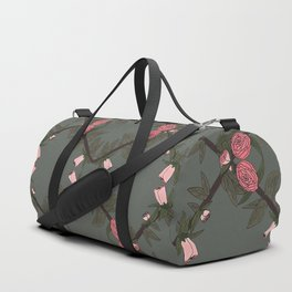 FLORAL GRID Duffle Bag
