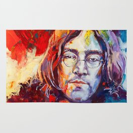 Watercolor John lenon Rug