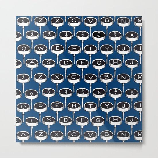 Infinite Typewriter_Blue Metal Print