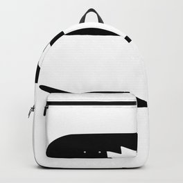 Skate Board From Side And Overhead Greyscale  Quo Backpack