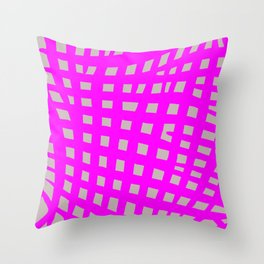 pink and grey pattern Throw Pillow