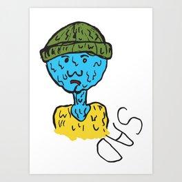 Sad Boy  Art Print