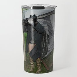 It's a Matter of Fact that it Always Rains on Tents Travel Mug