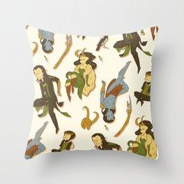 All the Lokis Throw Pillow