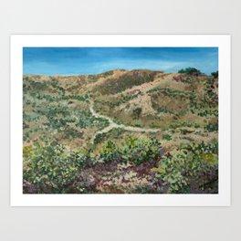 Boise foothills painting Art Print