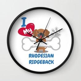 RHODESIAN RIDGEBACK - I Love My RHODESIAN RIDGEBACK Gift Wall Clock