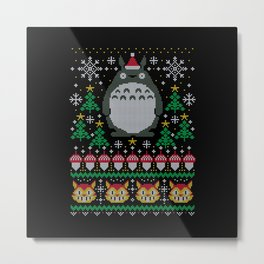 Anime Ugly Christmas Metal Print