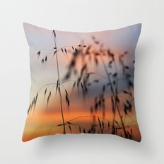 Dream sunset at the field. Throw Pillow