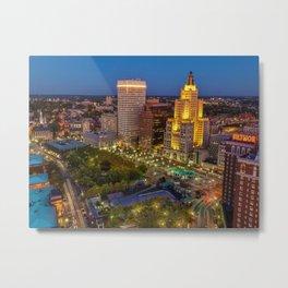Providence, Rhode Island Night Skyline Metal Print