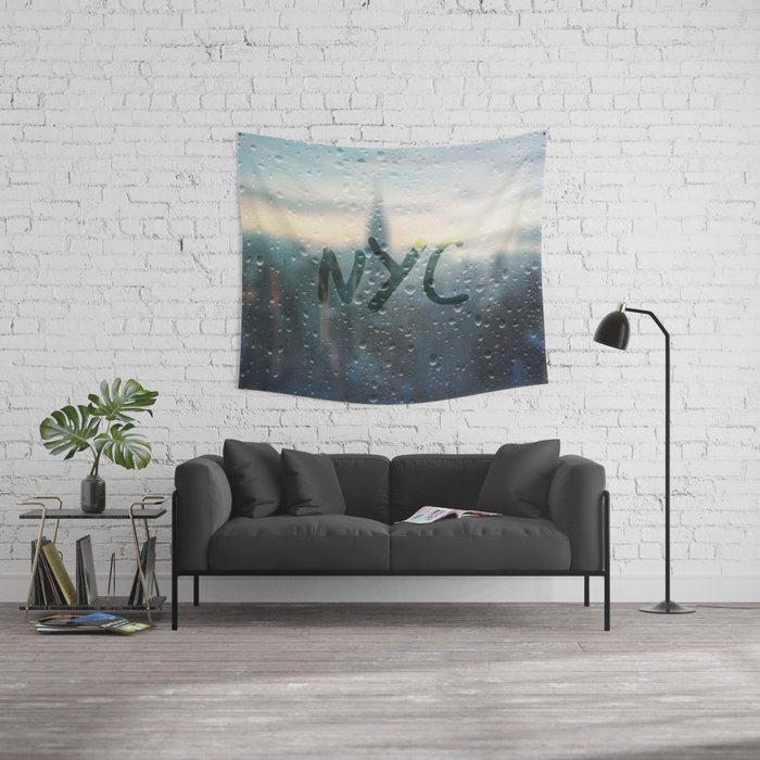 Rainy Day in NYC Wall Tapestry by Christine aka stine1