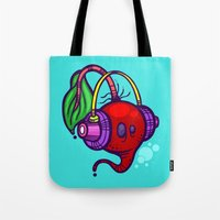 fat Tote Bags featuring Fat Beets by Artistic Dyslexia