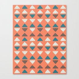 Triangles + Dots Canvas Print