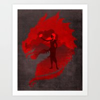 mother of dragons Art Prints featuring The Mother of Dragons by ChrisAbles