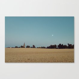 The Moon and the Church Canvas Print