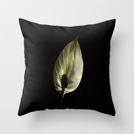 Spathiphyllum, Peace lily Throw Pillow