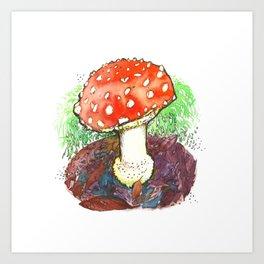 The Perfect Mushroom Art Print