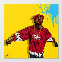 49ers Canvas Prints featuring 49ERS PAC by Mike Farhat Art Mobb