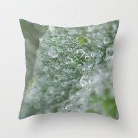ukraine Throw Pillows featuring Ukraine dew drops #7029  by Photography by Stefanie Jasper