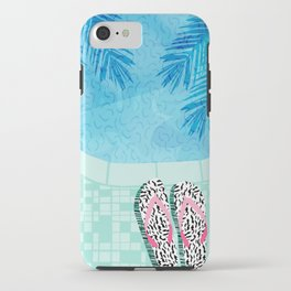 Go Time - resort palm springs poolside oasis swimming athlete vacation topical island summer fun iPhone Case