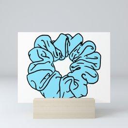 Blue Scrunchie Mini Art Print
