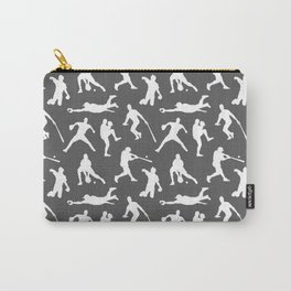 Baseball Players // Charcoal Carry-All Pouch