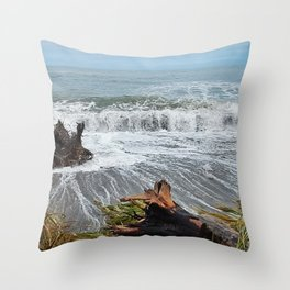 Sea and driftwood mix it up Throw Pillow