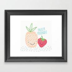 FRUITY FRIENDS Framed Art Print