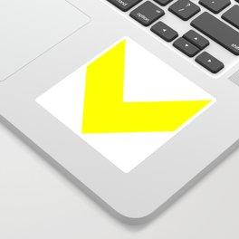 Chevron (Yellow & White) Sticker