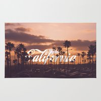 california Area & Throw Rugs featuring California by thecrazythewzrd