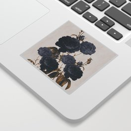 blue flowers Sticker
