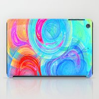 planets iPad Cases featuring abstract planets by haroulita