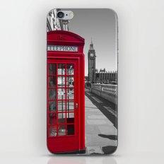 Big Ben and Red telephone box iPhone & iPod Skin