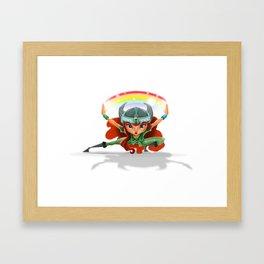 Lola, rainbow's heroine Framed Art Print