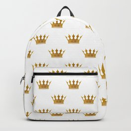 Wedding White Gold Crowns Backpack