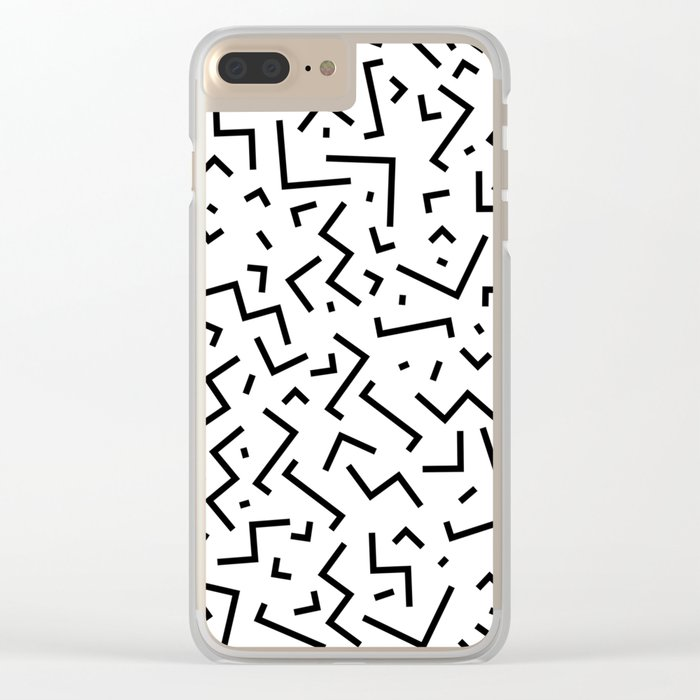 Memphis pattern 30 Clear iPhone Case