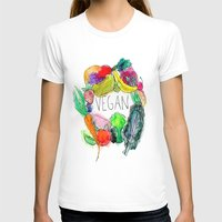 vegan T-shirts featuring Vegan  by BriannaCamp