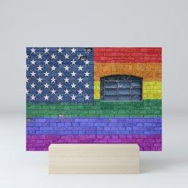 LGBTQ Pride American Flag Mini Art Print