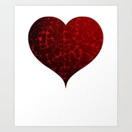 Cracked Red Heart Valentines Day Design Art Print