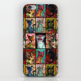 9 Zombie Cats version 2 iPhone Skin