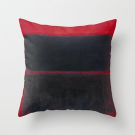 1957 Light Red Over Black by Mark Rothko HD Throw Pillow
