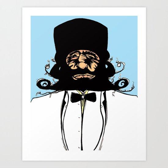 """""""Mustachat in Technicolor"""" Art Print"""
