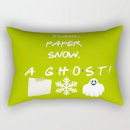 """""""Paper, Snow, A Ghost!"""" - Friends TV Show Rectangular Pillow"""