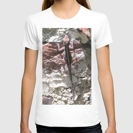 Watercolor People in Nature, AaP, Construction 05, and Lizard, St John, USVI T-shirt