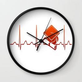 Student Heartbeat Wall Clock