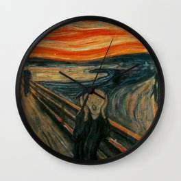 The Scream by Edvard Munch, circa 1893 Wall Clock