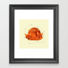 Fiery Fox Framed Art Print