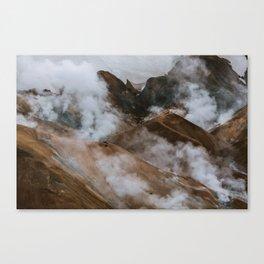 Kerlingjarfjöll smoky Mountains in Iceland - Landscape Photography Canvas Print
