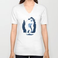 yeti V-neck T-shirts featuring Yeti by Rachel Young