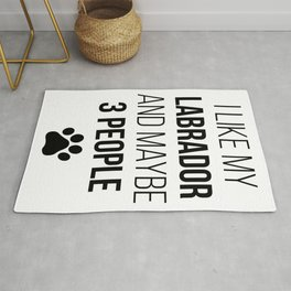 Labrador Retriever Owner Funny Rug